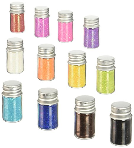 Doodlebug Glitter - DOODLEBUG Sugar Coating Glitter Assortment, 5 Gram Bottles, 12/Pkg