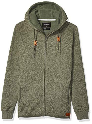 Quiksilver Men's Keller Zip Fleece TOP, Thyme Heather, S