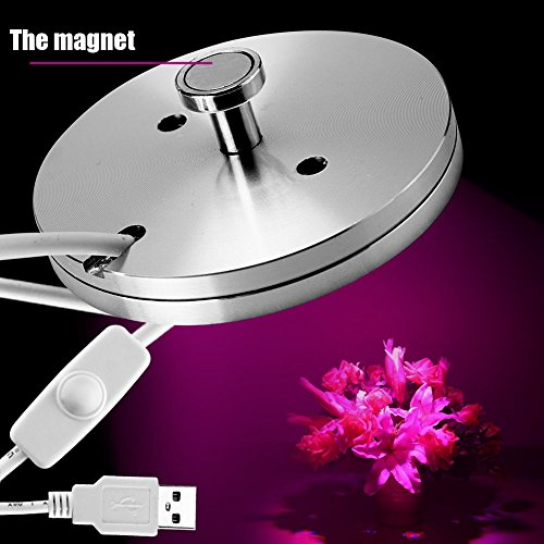 Lily's Gift Super Thin USB 5W LED Plant Growth Fill Light Spectral Lamp For Flower Vegetable