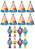 Peppa Pig Birthday Party Favors Pack Including Blowouts, and Kids Party Hats - 8 Guests