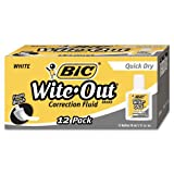 Wite-Out Quick Dry Correction Fluid, 20 ml Bottle, White, 1/Dozen by BIC
