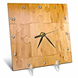 3dRose dc_20593_1 Wood Puzzle-Desk Clock, 6 by 6-Inch