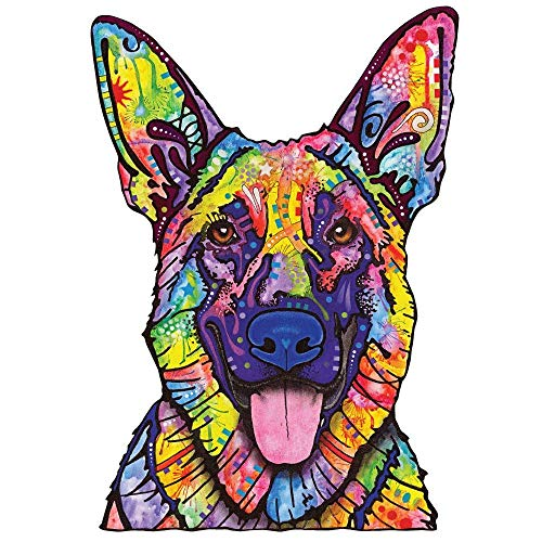 (My Wonderful Walls Animal Pop Art by Dean Russo Dogs Never Lie German Shepherd Wall Decal Cut Out, 39.5-Inch by 56.3-Inch, Multicolored)