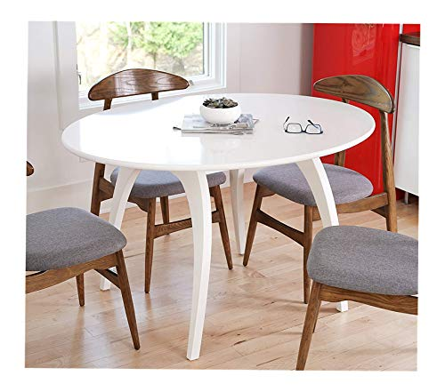 - Wood & Style Office Home Furniture Premium Haven Home Beckett Mid-Century Round Table, 50 Wide Oval Tabletop Conference Table, White