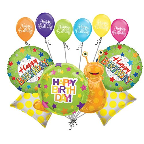 11-pc-happy-birthday-snail-balloon-bouquet-party-decoration-slug-bug-garden-boy