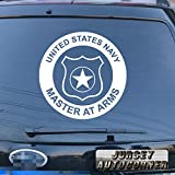 us navy master at arms - US Navy Master at Arms Military Decal Sticker Car Vinyl pick size color die cut no background (white, 6'' (15.2cm))