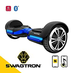 Max out your swag and step on the all new SWAGTRON T580 Bluetooth hoverboard.At only 20 lbs, the self balancing board is both lightweight and sturdy. It easily supports any rider between 44 to 220 lbs, making it ideal for children, teens, and...