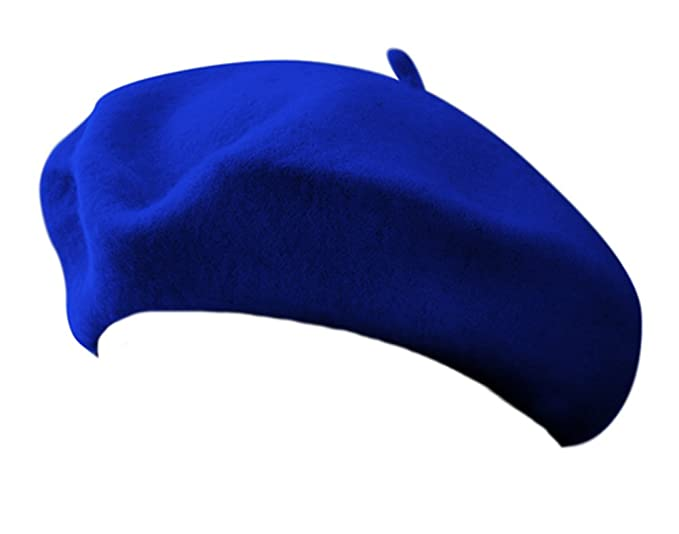 8ff0a4d3010 Image Unavailable. Image not available for. Color  11 quot  Royal Blue Wool  Blend French Artist Beret Cap