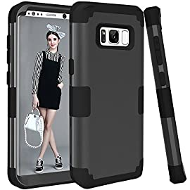 Samsung Galaxy S8 Case, VPR 3 in 1 Hybrid Cover Hard PC Soft Silicone Interior Rubber Scratch Heavy Duty High Impact Shock Absorbing Protective Defender Case for Galaxy S8 2017 21 Compatibility: Compatible with Samsung Galaxy S8 2017, allowing full access to touchscreen, camera, buttons, and ports. NOT COMPATIBLE any other Phone models.