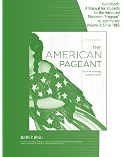 American pageant guidebook, vol. 1: to 1877, 14th edition: david.