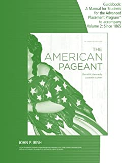 amazon com the american pageant guidebook with answers a manual rh amazon com american pageant 13th edition workbook answers American Pageant 13th Edition Chapter 14