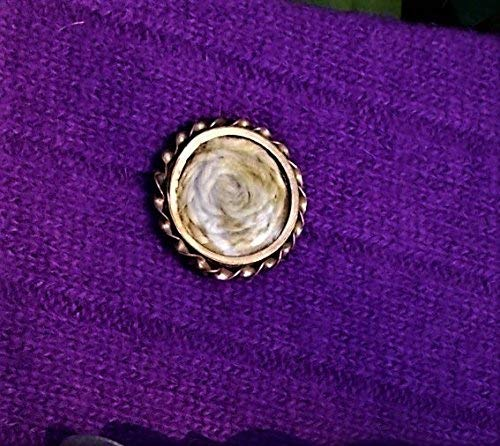 1880 Victorian Mourning Hair Brooch Gold Filled Mourning Pin w/Blonde Plaited Hair Domed GlassTwisted Brass Around Woven by Me OOAK
