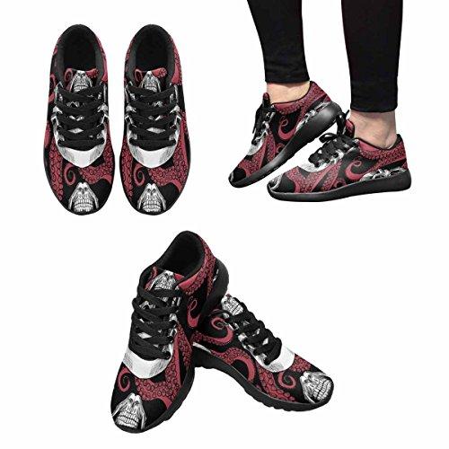 Scarpe Da Corsa Trail Running Donna Jogging Leggero Sportivo A Piedi Sneakers Atletiche Teschio E Tentacoli Del Polpo Multi 1