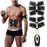 Abs Stimulator EMS Muscle Stimulator Abdominal Toning Belt Ab Toner Muscle Trainer Smart Body Building Fitness Home Training Gear for Abdomen/Arm/Leg/Waist