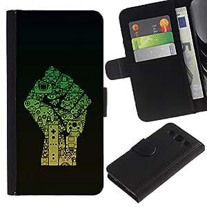 eJoy---La carpeta del tirón la caja de cuero de alta calidad de la PU Caso protector - Samsung Galaxy S3 III I9300 - --Fist Power