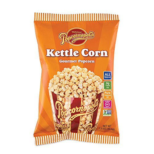 Popcornopolis Gourmet Popcorn Snack Bags (pack of 24) (Kettle Corn 1.5oz)