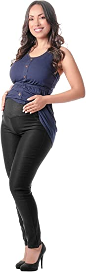 L O W L A Shapewear High Rise Maternity Jeans Skinny Ankle Stretch Pants For Pregnant Women Pantalones Jeans Maternos Ropa Para Embarazadas Modernas Black 3 Amazon Ca Clothing Accessories