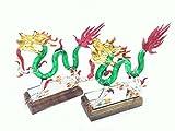 1 Set of Colorful Handmade Dragon Art Gl