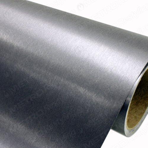 5ft x 1ft (5 Sq/ft) 3M Brushed Steel BR201 Scotchprint Car Wrap Vinyl Film 1080 Series
