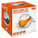 Eric Beare iSplash BT Waterproof Water Resitant Floating Bluetooth Pool Speaker (White/Orange)