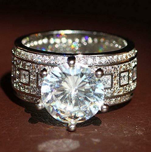 - Crookston Fashion White Sapphire Birthstone 925 Silver Fil Wedding Bridal Ring SZ 6-10 | Model RNG - 2830 | 6