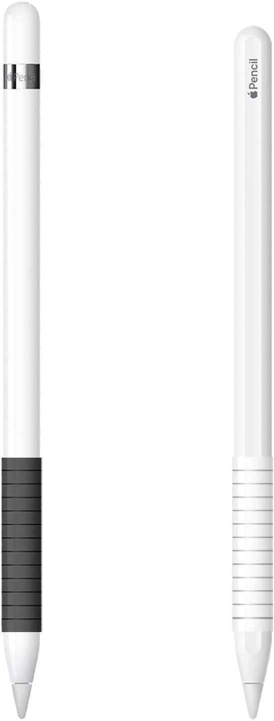 Grip Holder Compatible with Apple Pencil,Accessories Compatible with Apple Pencil 1st Generation/Apple Pencil 2nd Generation/Stylus Pen(2PCS,Black+White)