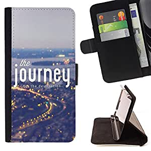 - The Journey/ Personalizada del estilo del dise???¡Ào de la PU Caso de encargo del cuero del tir????n del soporte d - Cao - For Sony Xperia Z1 L39