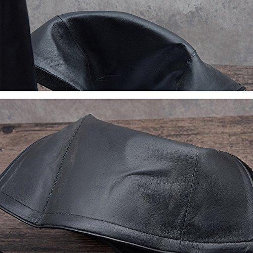 Scarpe Moda di Stivali di Modelli Martin Stivali Classico Traspirante NIUMJ Britanniche Stivali Alti Indossabile Pelle Stivali White Moda Autunnali dqxBtOw
