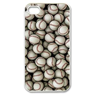 wugdiy New Fashion Hard Back Cover Case for iPhone 4,4S with New Printed Baseball