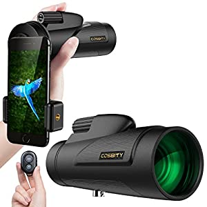 High Power Monocular Telescope Monocular Scope-12x50 Dual Focus Waterproof Monoculars with Phone Clip and Tripod for Cell Phone-for Bird Watching, Hunting, Camping, Hiking, Outdoor, Surveillance