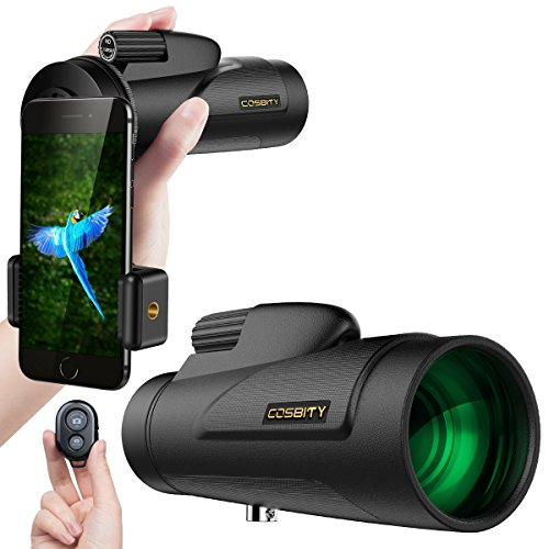 Monocular Telescopes, 12x50 Low Night Vision Spotting Scope for Adults with Cell Phone Photography...