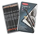 Derwent Graphic Drawing Pencils, Soft, 12 Count Metal Tin