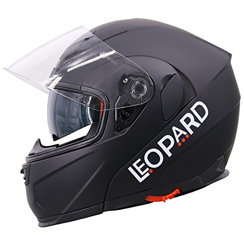 Leopard LEO-838 Doble Visera Casco Moto Modular ECE 22-05 Homologado para Motocicleta Bicicleta Scooter Cascos de Moto Modulares Mujer y Hombre