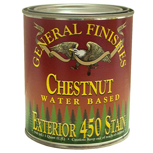 General Finishes Water Based Exterior 450 Stain Chestnut Quart (Best Exterior Semi Transparent Stain)