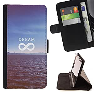 Dragon Case- Caja de la carpeta del caso en folio de cuero del tir¨®n de la cubierta protectora Shell FOR Sony Xperia Z1 M51W Z1 mini D5503- Love Dream Sea
