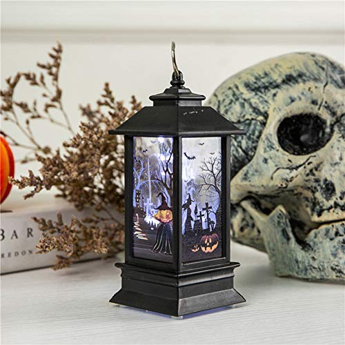 (Metermall Simulate Halloween Series Pattern Flame Light for Home Bar Tabletop Decoration Copper Wire lamp)