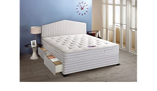 Airsprung Beds Ortho Master Bobina de cremallera y abierto enlace colchón con joyero de King Juego de diván, 150 x 200 cm, tela, matrimonio: Amazon.es: ...