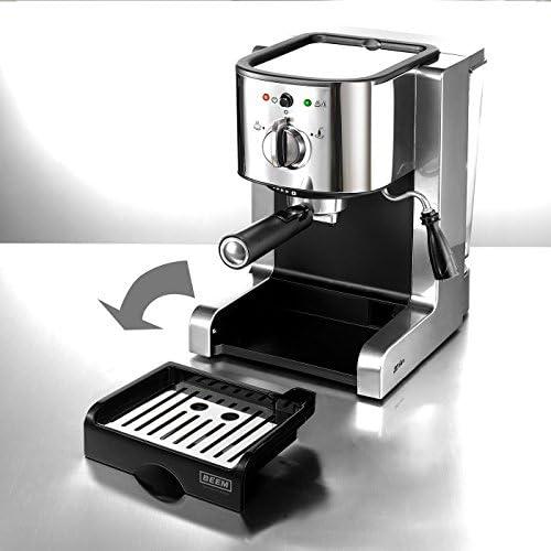 Beem - Máquina de espresso (con 20 bar), color plateado: Amazon.es ...