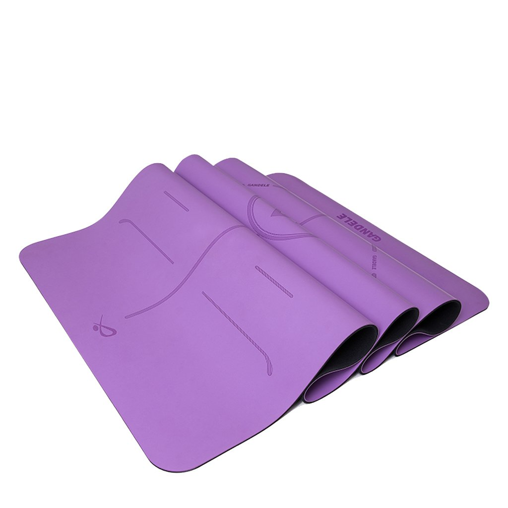 HCJYJD Yogamatten, 5mm Naturkautschuk Beruf Anfänger Fitnessmatte Widen Rutschfeste Yogamatte (Farbe :  1)