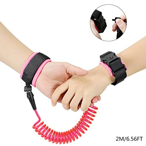 Best Review Of CSLY Child Anti Lost Wrist Link Safety Wristband Walking Hand Belt Band Wrist Strap L...