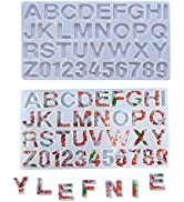 Large Alphabet Letter Stencils and Number Stencils,Alphabet Resin Molds,Chocolate Candy Molds for...
