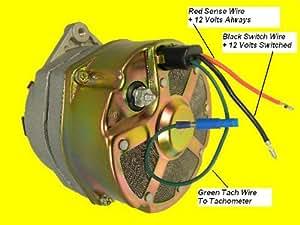 3 wire delco alternator wiring diagram tach wire complete wiring rh sammich co