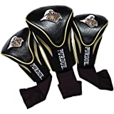 Team Golf NCAA Purdue Boilermakers Contour Golf Club Headcovers (3 Count), Numbered 1, 3, & X, Fits Oversized Drivers, Utility, Rescue & Fairway Clubs, Velour lined for Extra Club Protection
