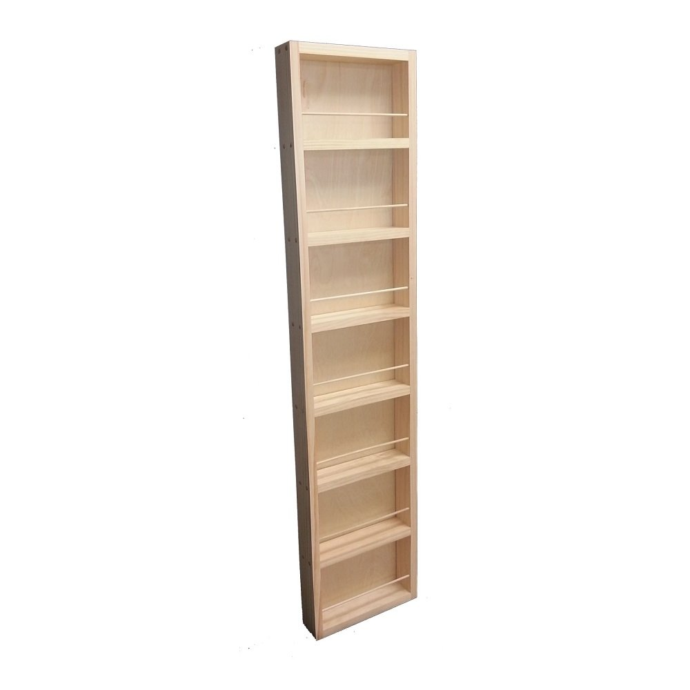 Wood Cabinets Direct Fulton Premium on The Wall Spice Rack, 48'' Height x 14'' Width x 3.5'' Deep