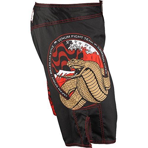 Venum Crimson Viper Fight Shorts, Black, Small