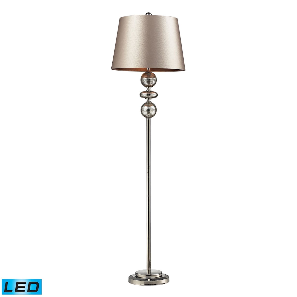 Dimond Lighting Hollis Floor Lamp Polished Nickel