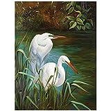 Summer Egrets 1 Wall Art