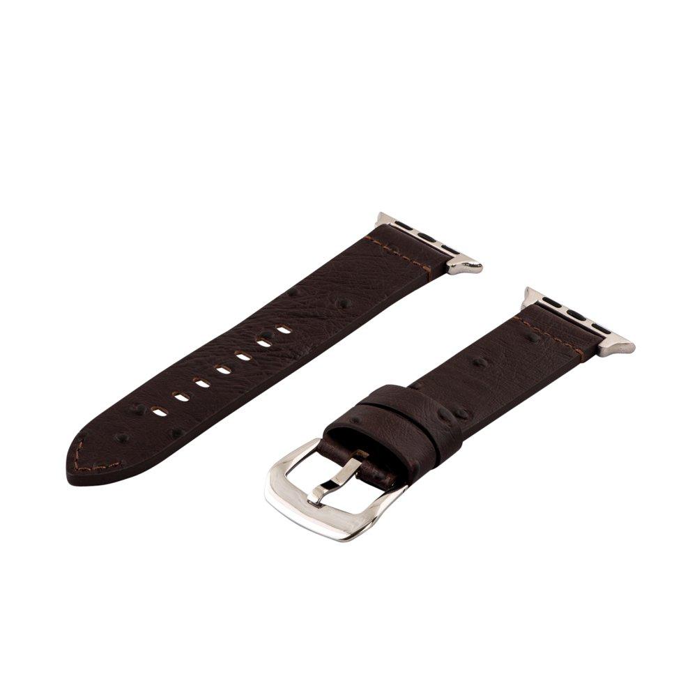 Clockwork Synergy ® – Dapperコレクション用レザー腕時計バンドApple Watch 42mm Ostrich Brown 42mm Ostrich Brown B01KMM65HW
