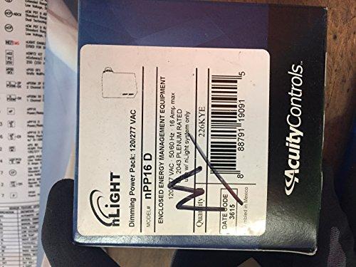 Sensor Switch Npp16 D Nlight Dimming Power Pack  Plenum  Ul2043  120 277V  White