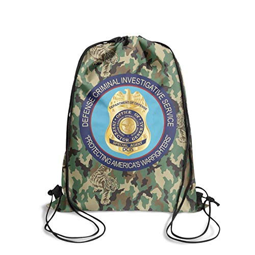 DSFSDCD Defense Criminal Investigative Service Logo Man's Printed School Drawstring Backpack Sackpack